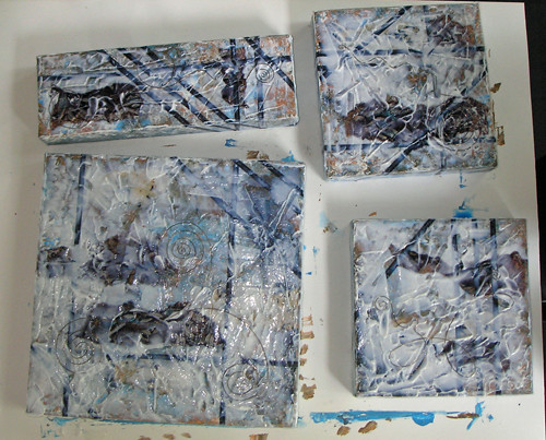 collage from demo, with gel & wire