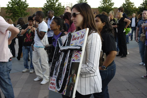 Michael Jackson vigil - 13 July 2009