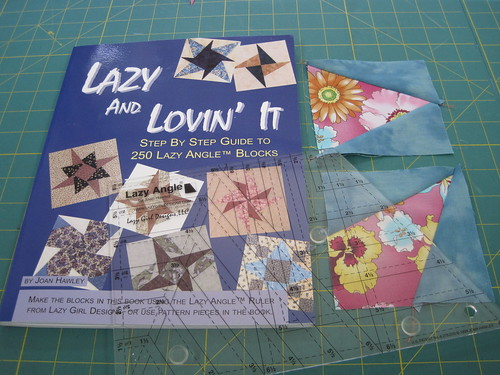 Lazy and Lovin It book with companion ruler and sample blocks