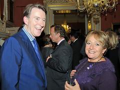 Peter Mandelson at Fashion Week reception