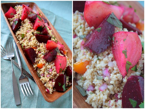 Gingered Millet with Roasted Beets