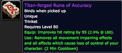 Titan-forged Rune of Accuracy - Item - World of Warcraft