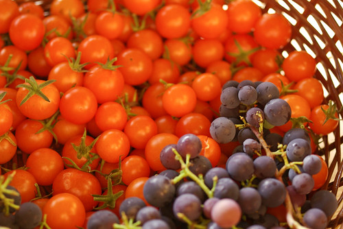 grapes and tomatoes