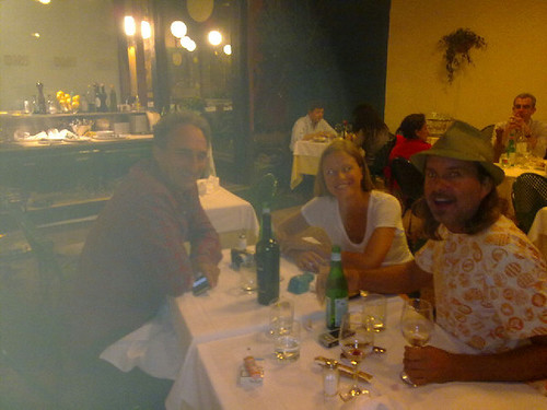 dinner at Trattoria Bagutta Milan with Sean Cunningham and Sonny Vandevelde