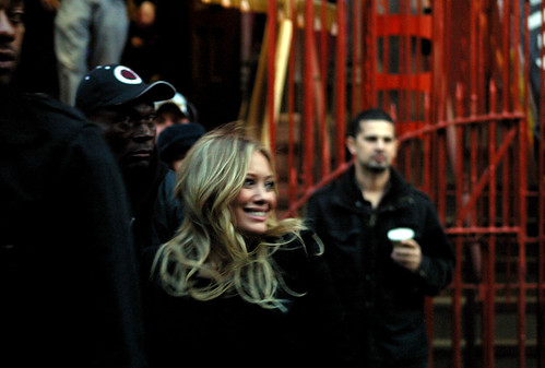 Hilary Duff: Gossip Girl Set 10/13/09