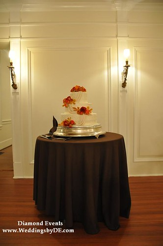 Wedding cake at Whitehall Manor in Bluemont Virginia