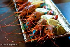 Irashai Grill - Spot prawn sashimi