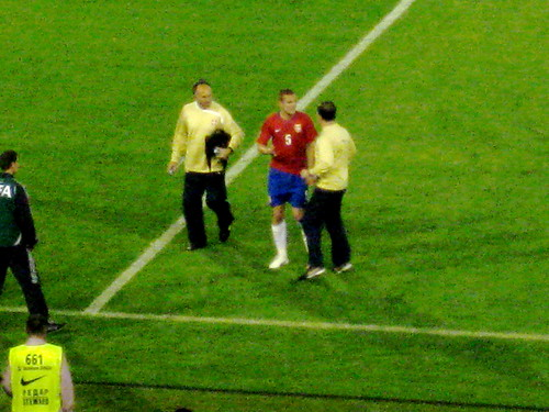 Serbian and Manchester United Star Vidic Comes Off With an Injury