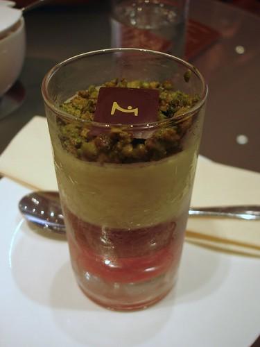 Verrine Pistache Framboise Chocolat