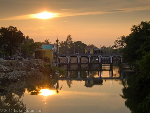 Sunset over the canal, Hue