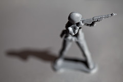 Standing toy soldier