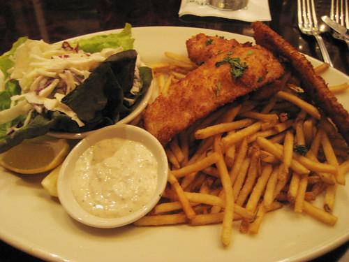 My boyfriends dinner, Fish n chips