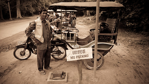 Mr. Mony, the man with the tuk tuk. Useful for going around the Angkor ancient city during 3 days