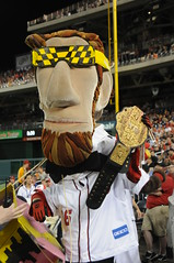 Nationals racing president Abe Lincoln tribute to Macho Man
