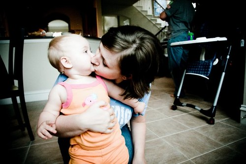 kisses for mommy.