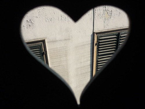 A heart in the window shutter