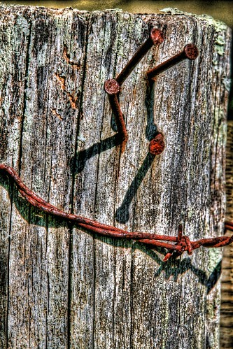 Barbed-wire and Nails