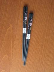 Black sakura chopsticks