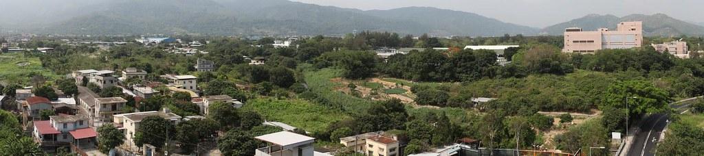 菜園村北向南