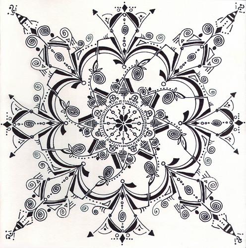 mandala #2, marker on paper (c) 2009, Lynne Medsker