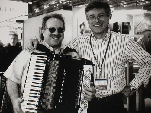 Jon Hammond and Marco Galeazzi and Jon's new custom Excelsior AC/R Accordion