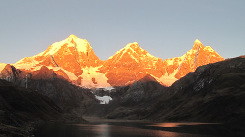 Cordillera Huayhuash at sunrise