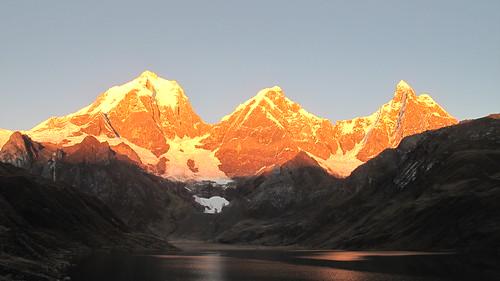 Cordillera Huayhuash at sunrise