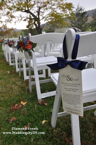 Wedding ceremony at Whitehall Manor in Bluemont, Virginia