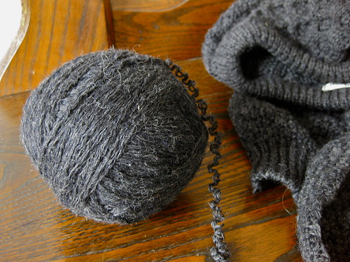 Deconstructing a sweater for yarn