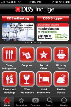 DBS Indulge iPhone App