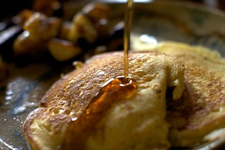 maple syrup, pancakes