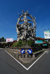 46 - Intricate Shiva statue at an intersection in Ubud