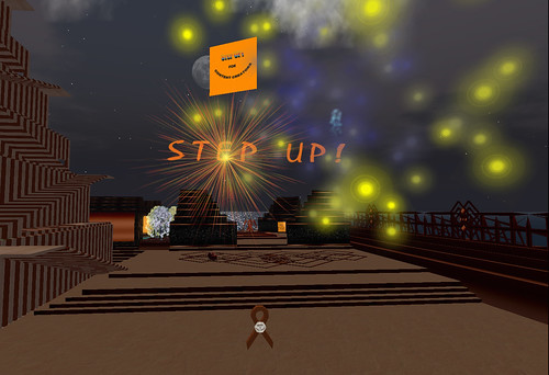 Step UP! Fireworks at the Step UP! HQ on Planet Mongo