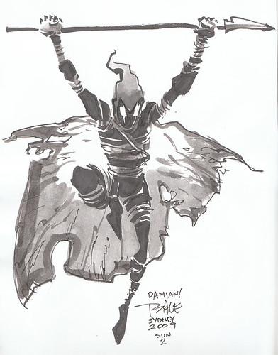 Tim Sale Grendel Sketch