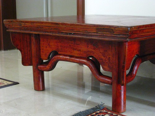 short legged square table