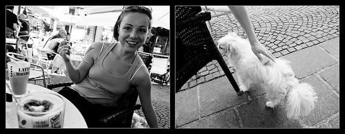 Latte macchiato con cane