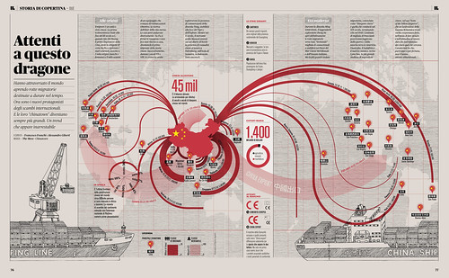 Infografica China Export / Chinatown nel mondo by Francesco Franchi.