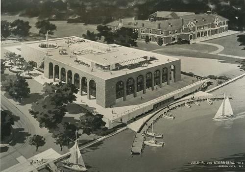 New Dowling Library Drawing circa 1969