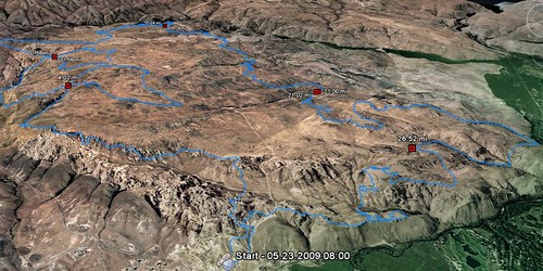 Course view from Google Earth