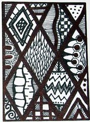 Diamonds Zendoodle ATC