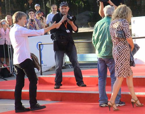 Andreas Dresen arriving