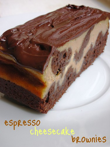 espresso cheesecake brownies
