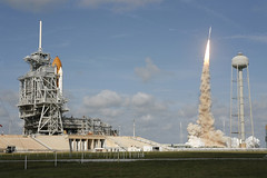 Ares I-X Rocket and Space Shuttle (NASA, 10/28/09)