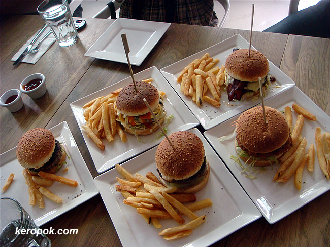 The more orderly burgers