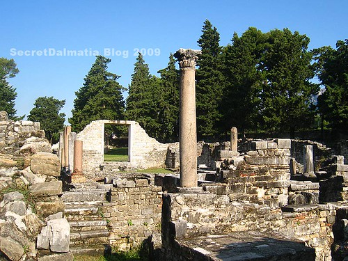 Ruins of the basilica...