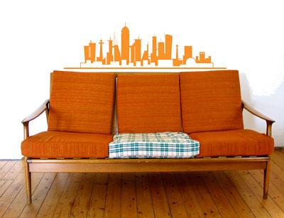 vintage orange sofa