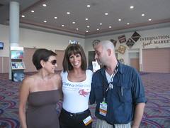 Michelle Feldman, Missy Ward and Loren Feldman During BWE09