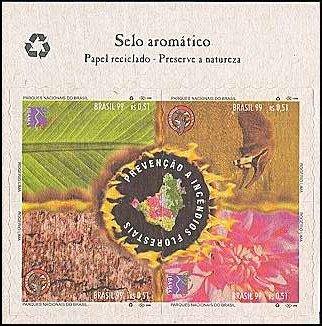 Primeiro selo aromatico do Brasil - venceu o prêmio internacional Aziago de Arte Filatélica Categoria Meio Ambiente