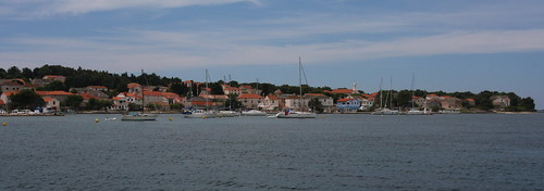 Panorama of Ilovik harbor