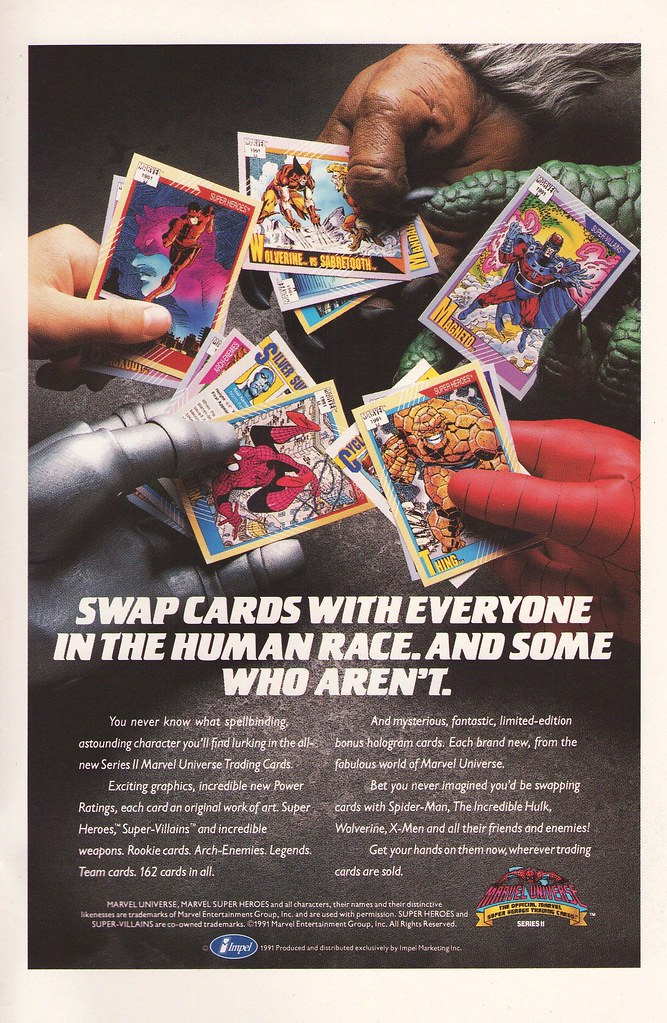 Marvel Universe Trading Cards Series II ad